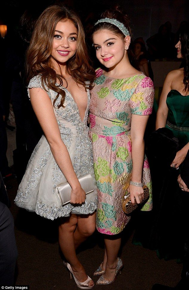 Rising stars: Modern Family cast members Sarah Hyland and Ariel Winter partied together at the Golden Globes bash