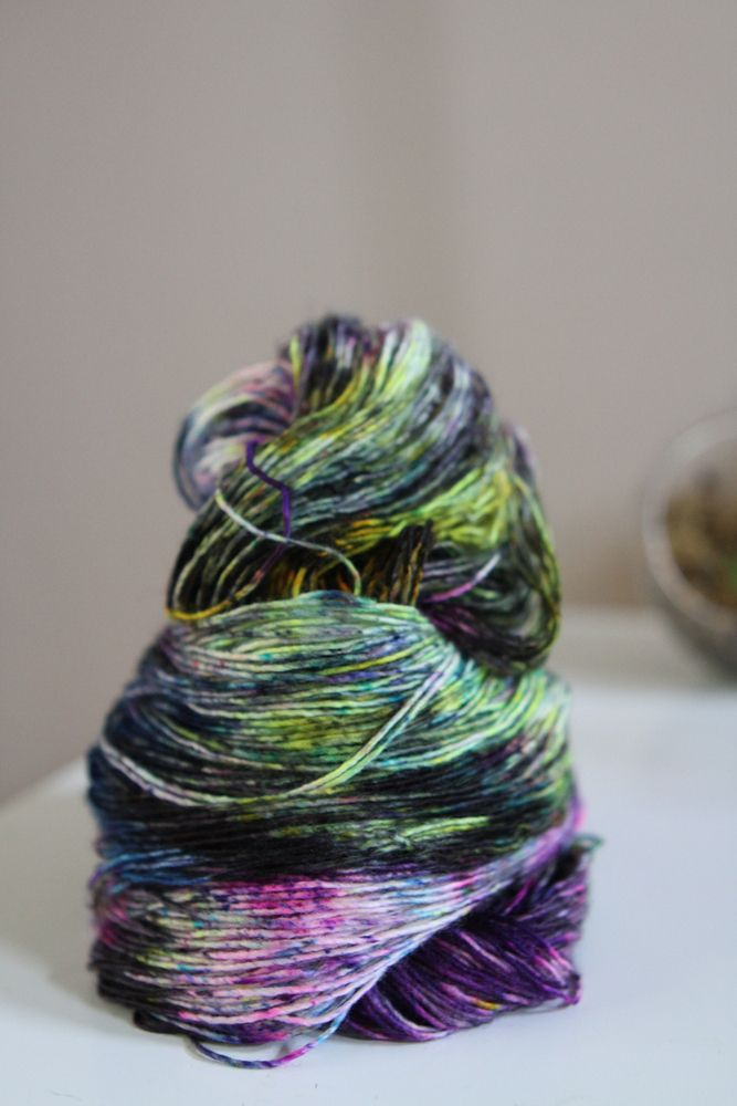 Image of Rave In A Graveyard - Hand Dyed Yarn by Stimpylab