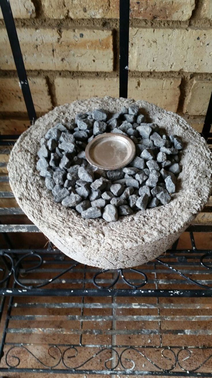 Hypertufa table fire pit
