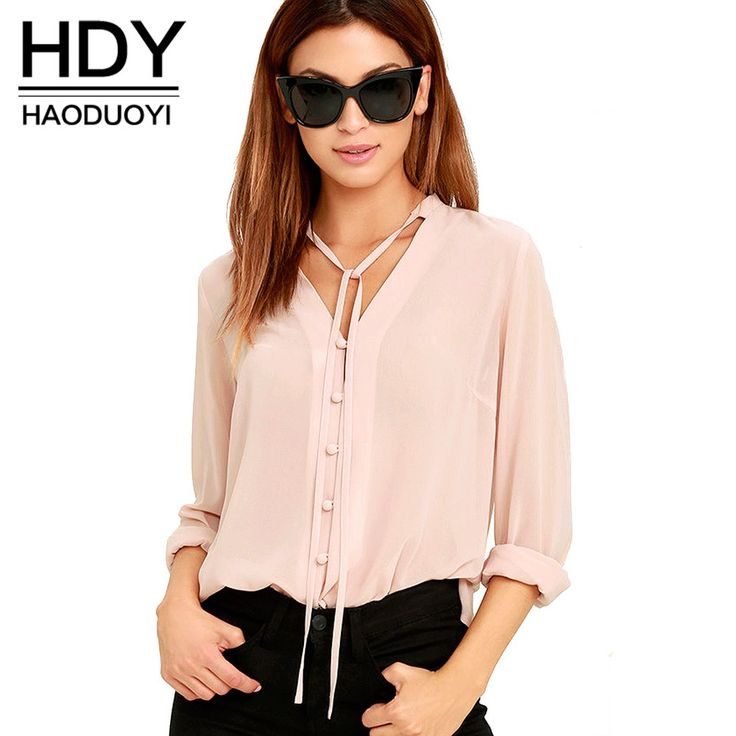 HDY Haoduoyi Solid Color Fashion Women Shirts Single Breasted V Neck Long Sleeve Blouse Casual Brief Style Female Chiffon Shirt     Tag a friend who would love this!     FREE Shipping Worldwide     Get it here ---> https://onesourcetrendz.com/shop/all-categories/womens-clothing/womens-blouses/hdy-haoduoyi-solid-color-fashion-women-shirts-single-breasted-v-neck-long-sleeve-blouse-casual-brief-style-female-chiffon-shirt/
