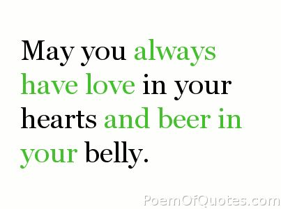 A quote for drinking