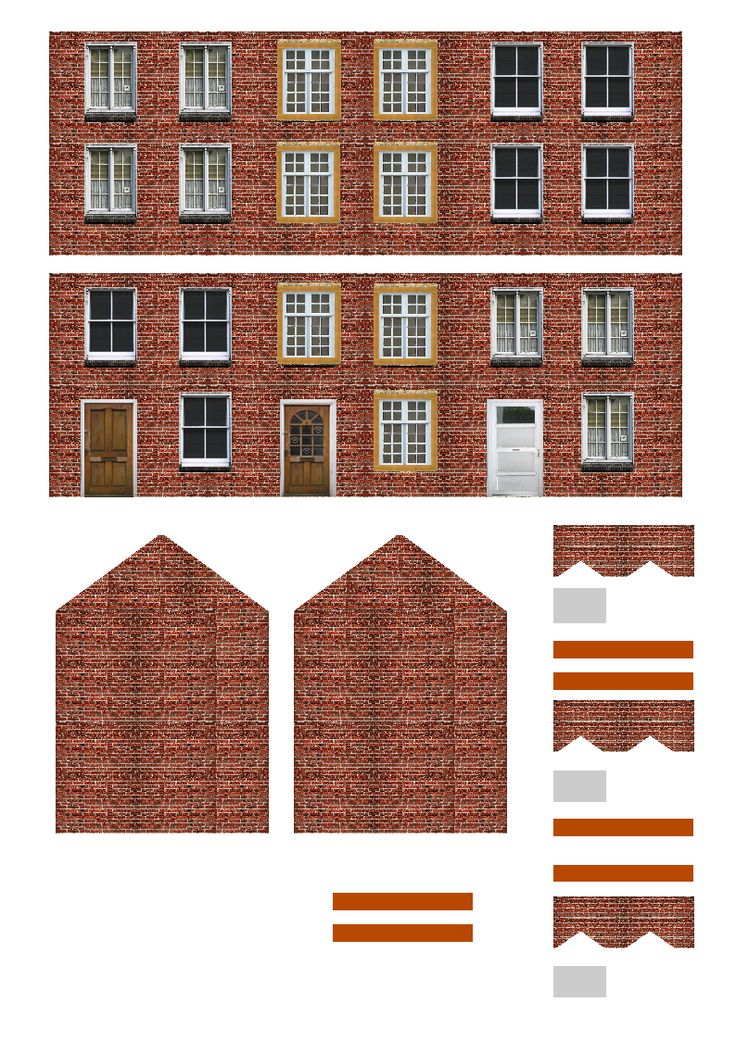 Free Printable Ho Scale Buildings Miniature Pinterest