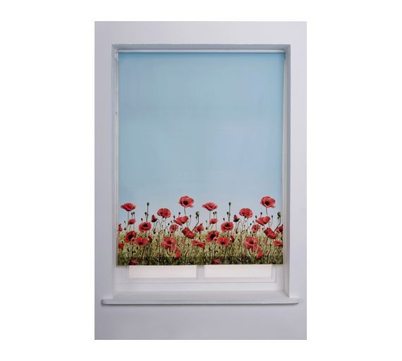 Buy HOME Poppy Meadow Roller Blind - 4ft - Multicoloured at Argos.co.uk - Your Online Shop for Blinds, Blinds, curtains and accessories, Home furnishings, Home and garden.