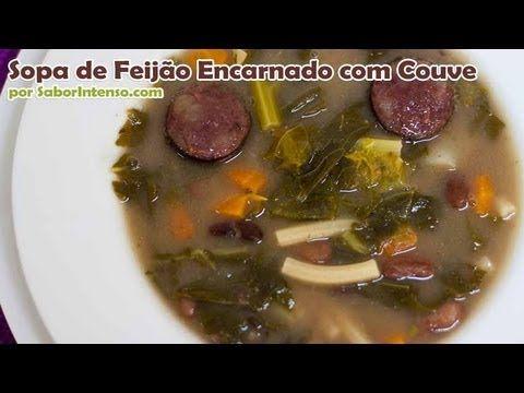 Sopa de Feijão Encarnado com Couve | SaborIntenso.com