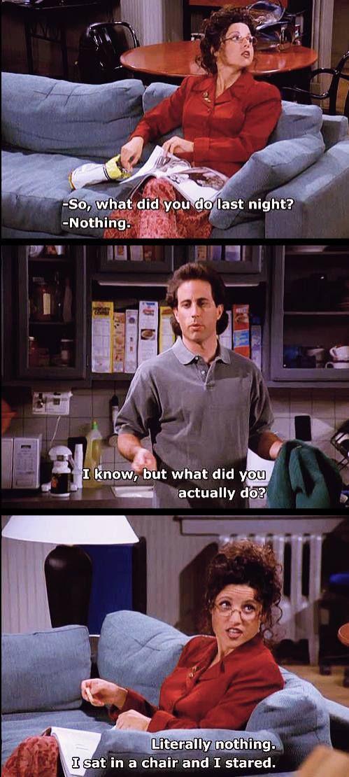 Seinfeld - Elaine does nothing