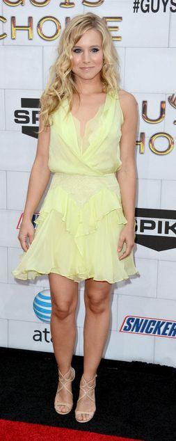 Kristen Bell:    Dress – Jenny Packham    Shoes – Jimmy Choo
