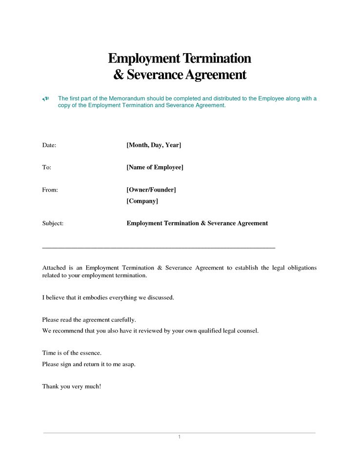 photos employment termination agreement template services letter - sample severance agreement