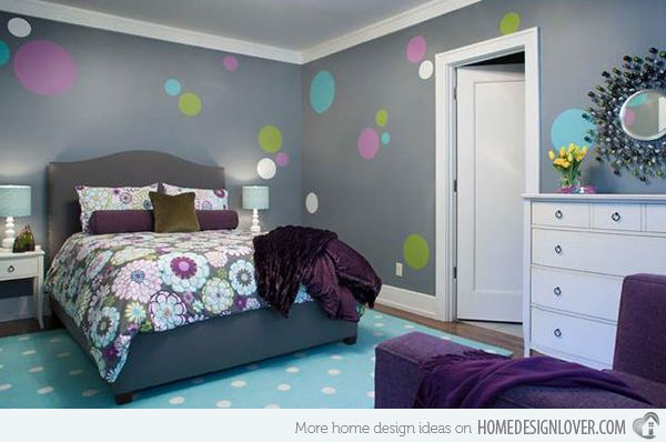 How to Design Bedroom Walls with Polka Dots and Circles