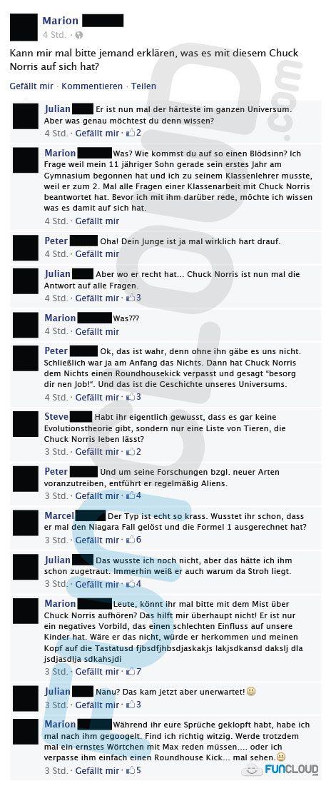 Wer ist Chuck Norris? - Facebook Fails des Tages 14.01.2015 | Funcloud