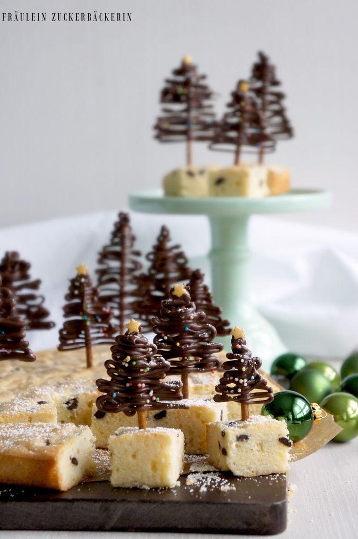 Gewinnspiel, Adventskalender, Blogger, Blondies, Lebkuchen, weiße Schokolade, backen mit weißer schokolade, Schokotannenbäume, schokoladen tannenbäume, sweet pie
