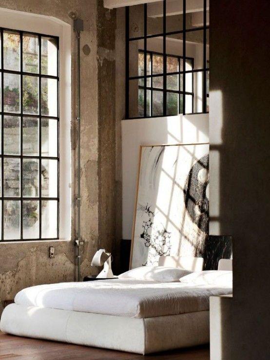 33 Industrial Bedroom Designs That Inspire | DigsDigs