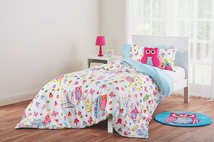 The Hootie quilt and scatter cushion set is one the designs in the new 'Esk' manchester range created exclusively for Fantastic Furniture by KAS Australia. Single $49, double $59.