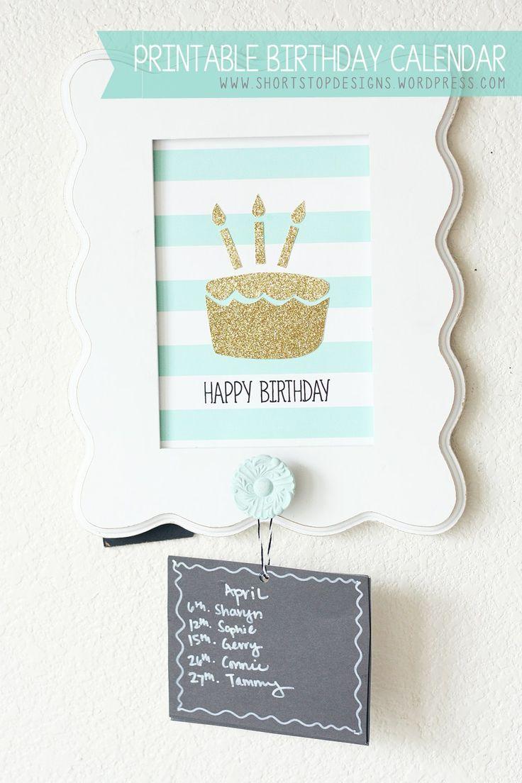 Diy Birthday Calendar Ideas : Unique family birthday calendar ideas on pinterest
