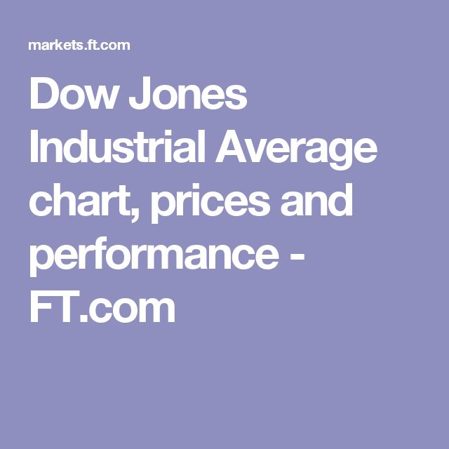 Dow Jones Industrial Average chart, prices and performance - FT.com