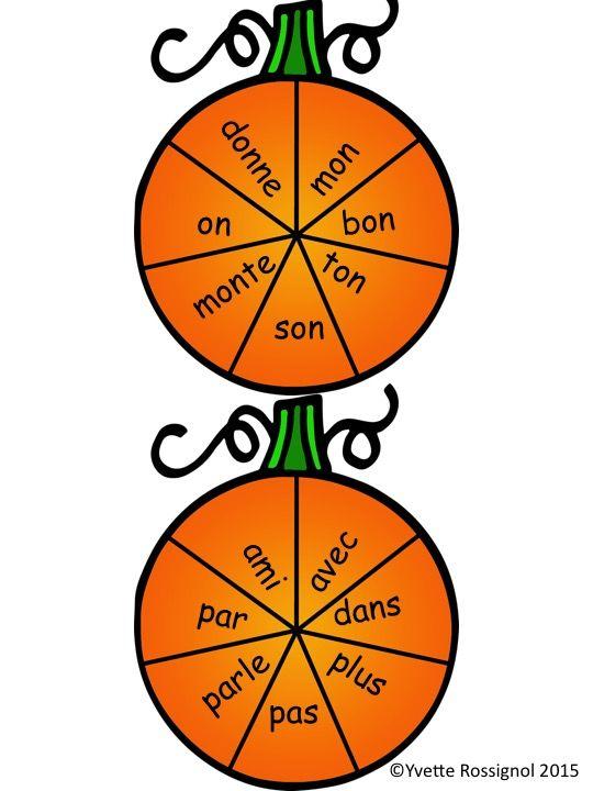 Thème de citrouilles! Jouez avec 84 mots fréquents et pratiquez une comptine amusante!