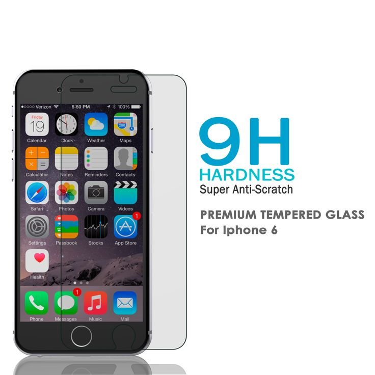 Iphone 6 6s Plus Clear Punkcase Glass Shield Tempered Glass Screen Protector 0 33mm Thick 9h Glass Glass Shield Glass Screen Protector Screen Protector
