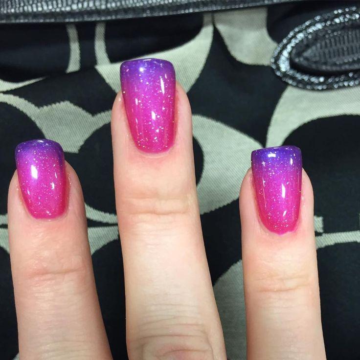 New mood color changing gel polish by Kasey. #Boise #BoiseNails #Nails #Manicure #Pink #Purple #BoiseSpa #BoiseSalon #MintBoise #GelNails