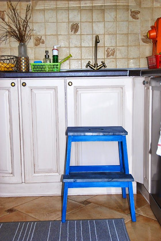 IKEA HACK: покраска степ-стула БЕКВАМ. Рецепт меловой краски.