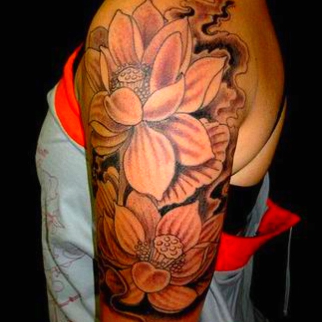 Tattoo Ideas Growth: Cherry Blossom Half Sleeve:)