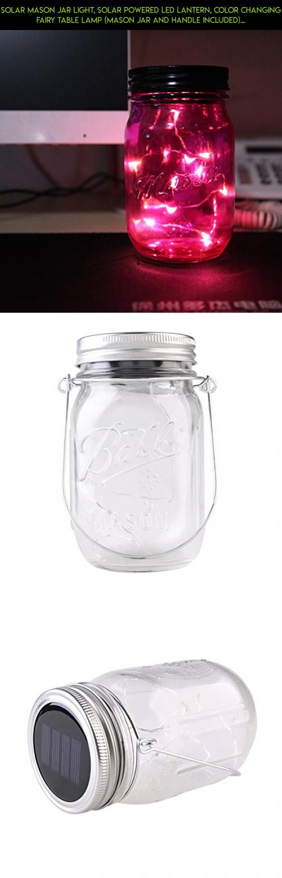 Solar Mason Jar Light, Solar Powered LED Lantern, Color Changing Fairy Table Lamp (Mason Jar and Handle Included). [Factory Store] #airtight #lids #tech #fpv #drone #kit #storage #shopping #camera #technology #racing #parts #products #jars #gadgets #plans #with