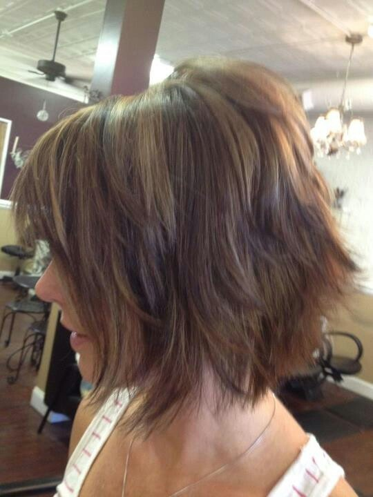Love this shaggy bob created in the best hair salon in St. Charles, MO - Mes bon Amis!