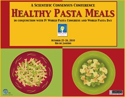 2010 Healthy Pasta Meals Scientific Consensus Conference