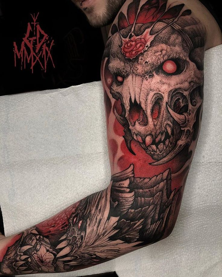 DOOM related sleeve in progress. Added the Icon of Sin