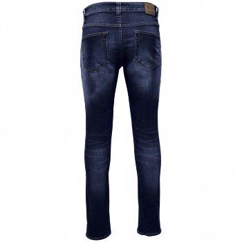 Only & Sons-Jeans in denim di cotone blu medio