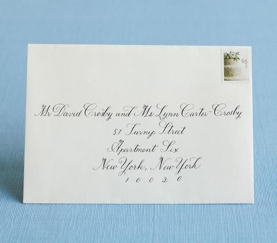 How to address wedding invitations addressing wedding for Wedding invitation envelope addressing family