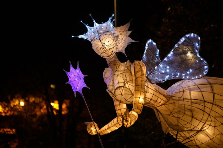 One of the wonderful withy lanterns from Truro City of Lights
