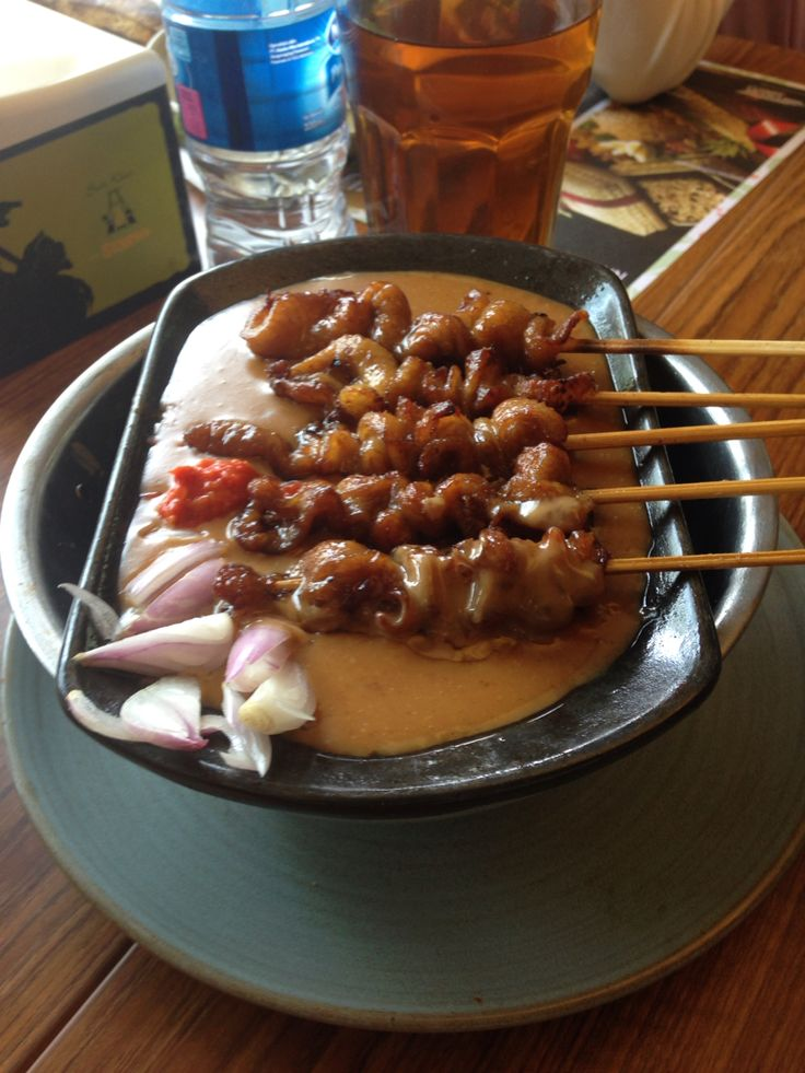 Chicken skin satay at Sate Khas Senayan