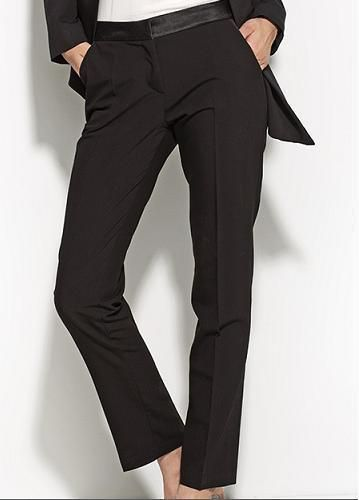 Pantalon Noir Droit femme habillé qualité SD16 NIFE Chic 36 38 40 42 44  #Tailleurhabill