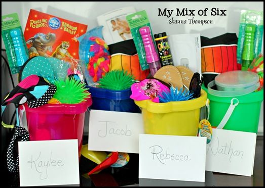 Summer buckets - to give the kids on the last day of school.: Summer Bucket3, Summer Vacation, Summer Buckets, Summer Gifts, Fun Bucket, Field Trips, Summer Fun, Summer Birthday