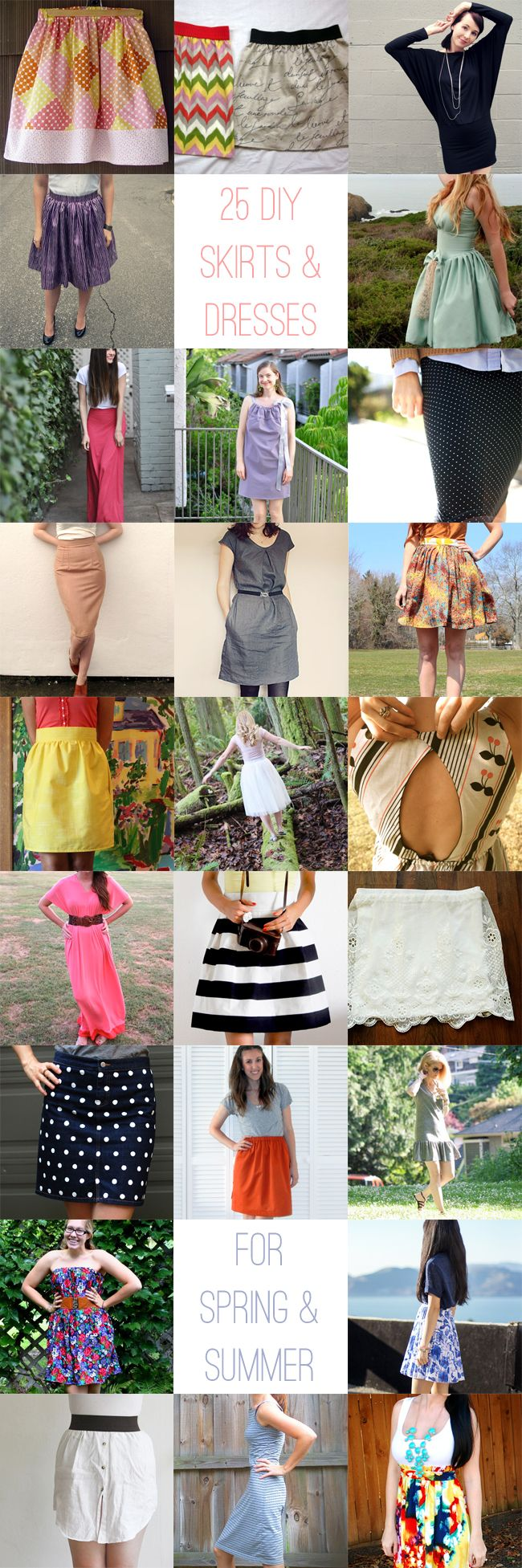 25 DIY Dresses and Skirts for Spring and Summer | http://hellonatural.co/25-diy-dresses-skirts-for-spring-summer/