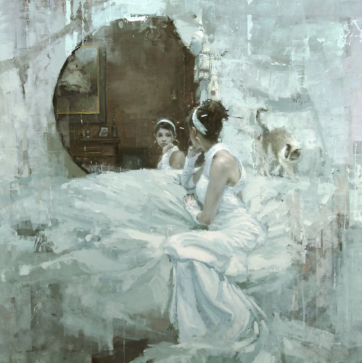 """""""The Forgotten (Version Two - Neglect)"""" - 48 x 48 in. Oil on Panel 2012 by Jeremy Mann"""