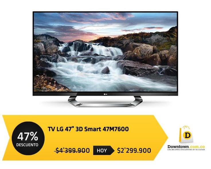 """La Mejor oferta Hoy Por tiempo limitado Televisor LG 47"""" 3D Smart 47LM7600 47% OFF INFO: www.Downtown.com.co"""