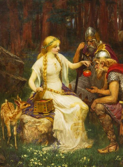 James Doyle Penrose. Detail from Iduna, Daughter of Svald ...