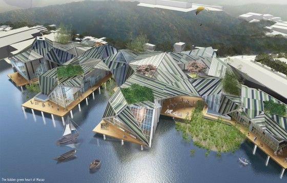 Visualizzazione aerea del progetto Dragon Yards (foto di M. A. Lazzarotto, D. della Croce,  A. Di Maggio)