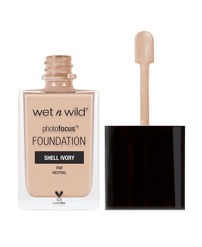Wet n Wild Photo Focus Foundation (Shade: Shell Ivory?) $6 :: Your skin, only better. Our new high-performing, skin-perfecting foundation underwent major road testing under seven different photo lighting conditions to deliver flawless camera-ready makeup every time~Specially made with a matte, light-diffusing complex to give your skin #nofilter perfection~High-performing, breakthrough formula~Featuring light-adjusting complex to help prevent white cast in photos~Tested under 7 light…