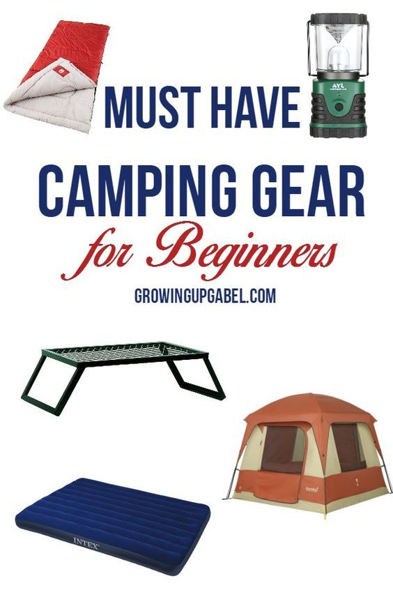 Useful camping gear is a must when starting out camping! But deciding what to buy can be overwhelming. Check out our list of must have items for beginning campers.