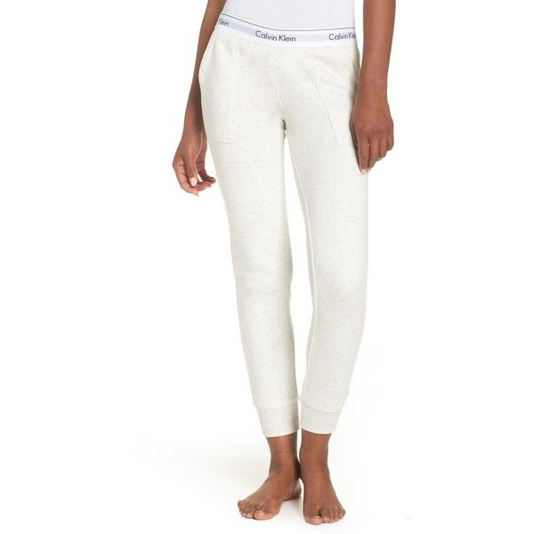 Women's Calvin Klein Lounge Jogger Pants (797.210 IDR) ❤ liked on Polyvore featuring activewear, activewear pants, snow heather, calvin klein, calvin klein sportswear, calvin klein activewear and logo sportswear