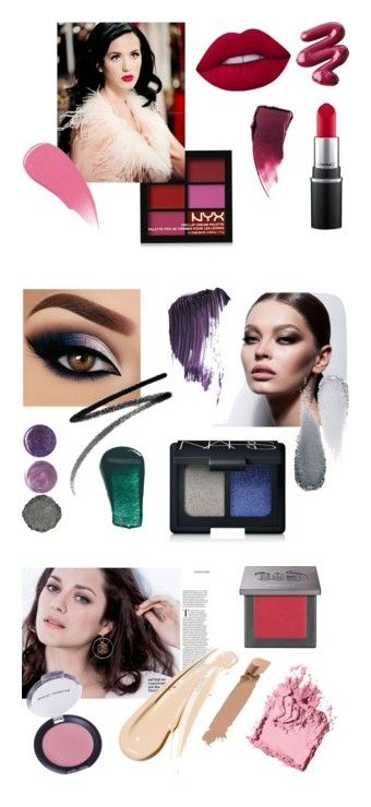 """Cool Winter Makeup"" by stylist-vera on Polyvore featuring coloranalysis, CoolWinter, Wintermakeup, Type4, beauty, NYX, MAC Cosmetics, L.A. Girl, Burberry and Estée Lauder"