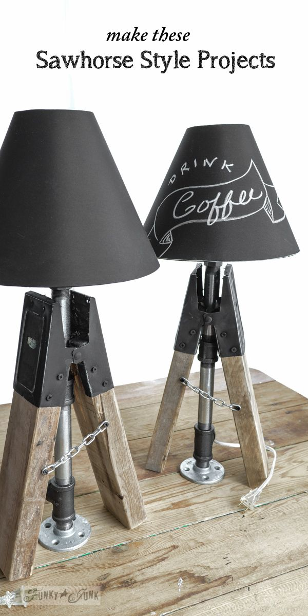 Add instant farmhouse charm to your home decor by adding sawhorses! Here are some cool project ideas to make! Written by Funky Junk Interiors for eBay