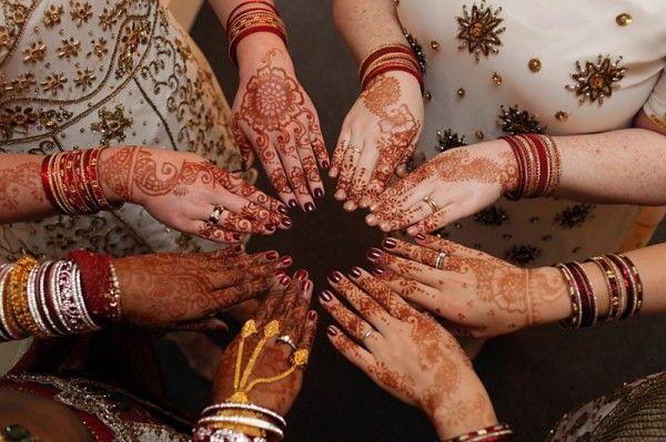 Love the bride and bridesmaids' mehendi