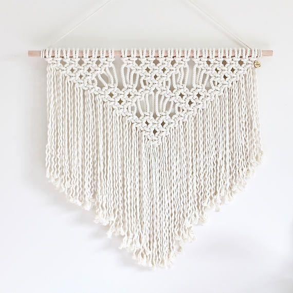 Aseado con motivos colgante de pared de diamante.  Hechas de algodón natural 100%.  Tamaño:  70cm ancho x 70 cm de largo