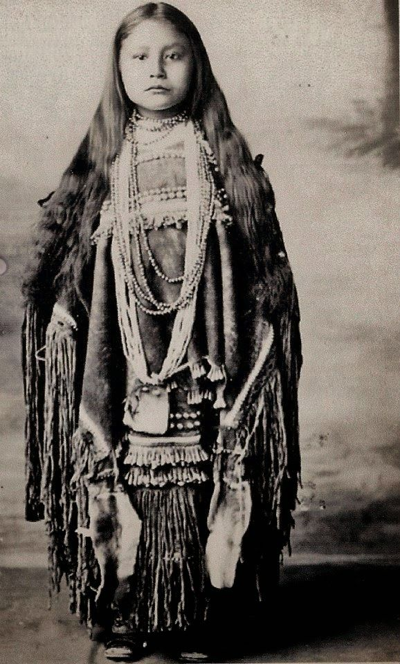 Apache Native American Girl. Historic Photo Gallery.