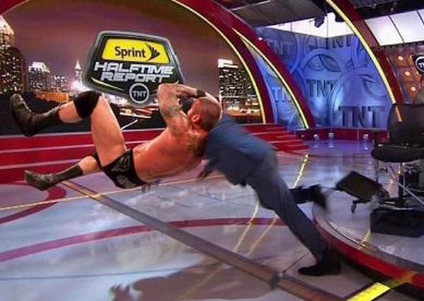RKO outta nowhere   The Best Memes Of Shaq Falling On 'Inside The NBA' - UPTOWN Magazine