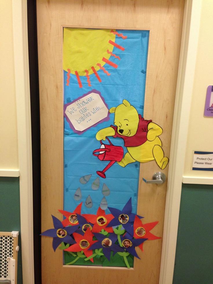 Classroom Door Decoration For Kindergarten ~ Classroom winnie the pooh door kindergarten