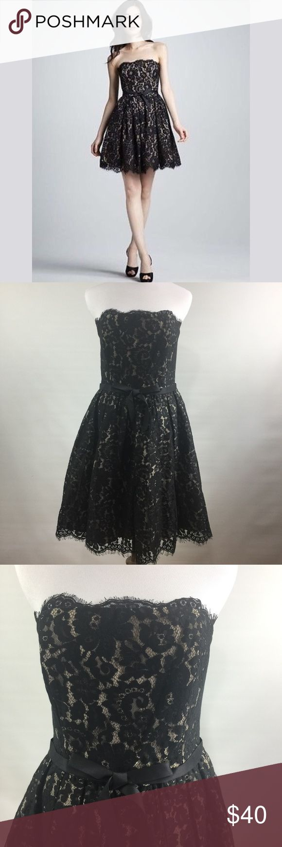 ROBERT RODRIGUEZ NEIMAN MARCUS FOR TARGET DRESS NWT black and taupe lace dress. Robert Rodriguez Dresses Midi