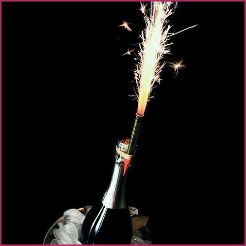 Champagne Bottle Sparklers 1
